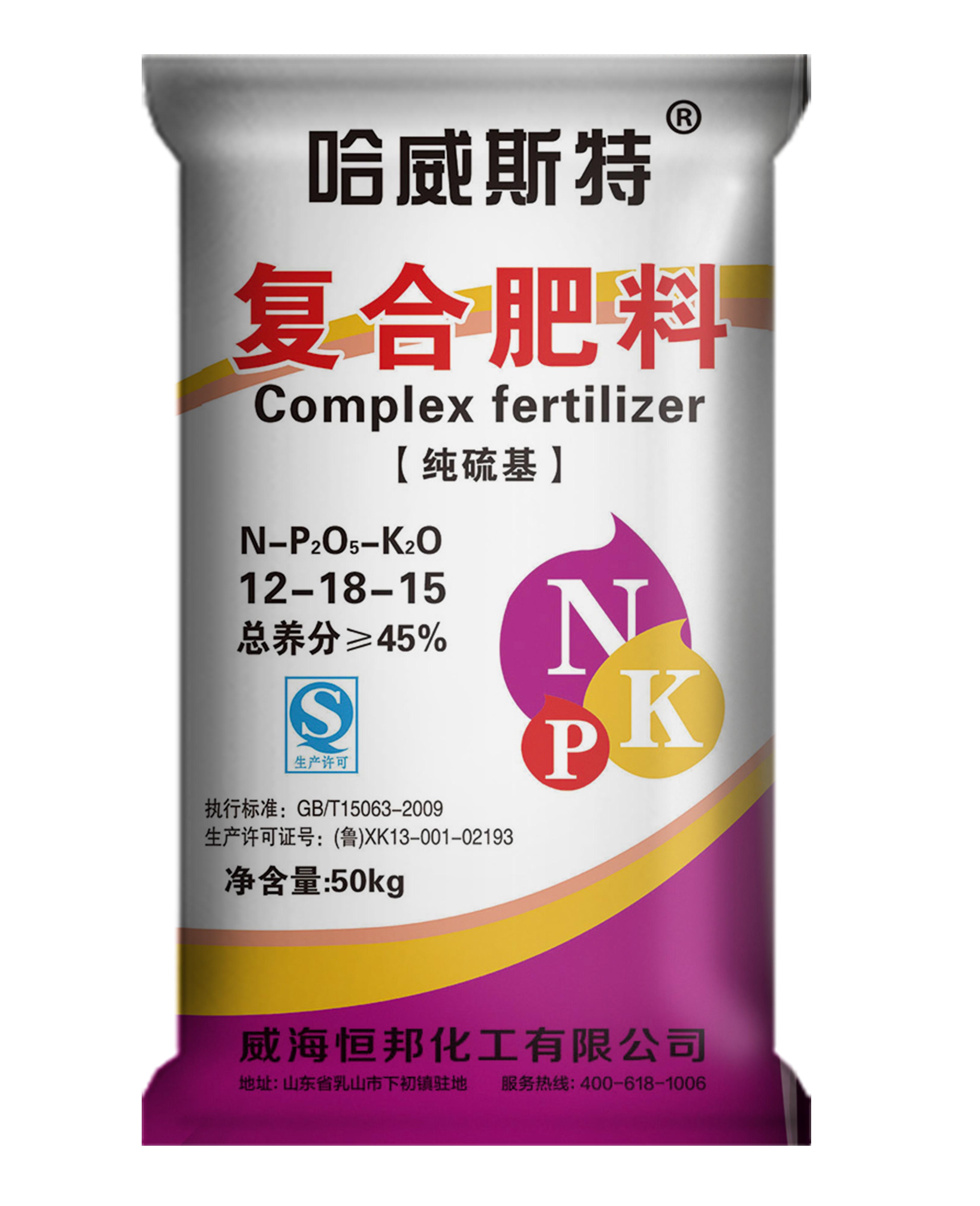 复合肥料硫酸钾型12-18-15